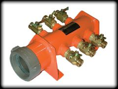 6-Outlet Flow Manifold 1.5 Inch- Cst