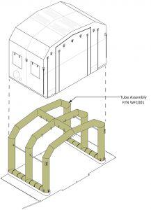 Tube Assembly For FES Staging Shelter And EM Station 10