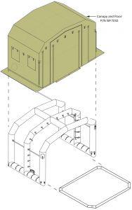 10' X 10' Canopy/Cover For FES Staging CBRNE Shelter 1 EM Stations 9 & 10.