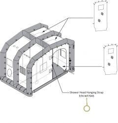 EM Shelter 1 Station 3 Shower Head Hanging Strap W/ Ring