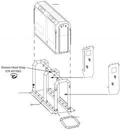 Shower Head Strap- EM/CSTw Shelter 3