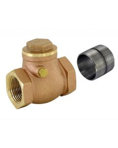 Check Valve Brass 2 1/2 Inch W/Nipple
