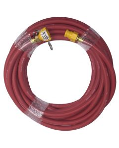 Red 25 Foot Supply Hose With Fittings 2ea