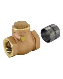 Check Valve Brass 1 1/2 Inch W/Nipple