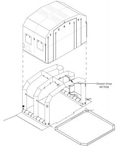CST/EM Shelter 4 Shower Strap