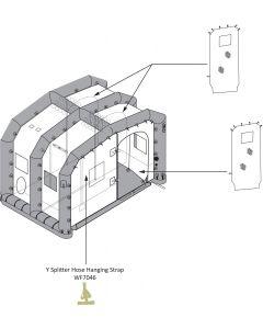 EM Shelter 1 Station 3 Y Splitter Hose Hanging Strap