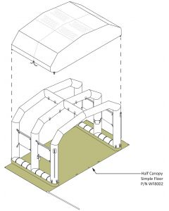 Full Canopy Floor- Ac Gc CST Shelter 1 Misting EM Shelter 4