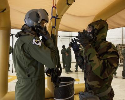 141st Operation Support Squadron (OSS) Host ACCA Decontamination Exercise