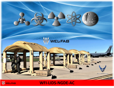 WEL-FAB, INC. MANUFACTURES A FULL LINE OF DECONTAMINATION SHELTERS